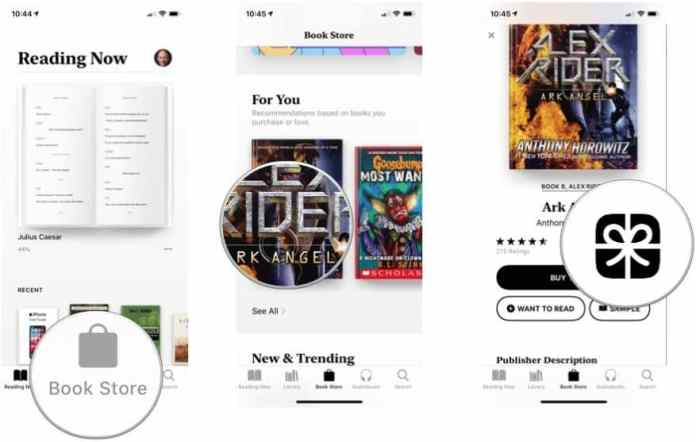 gift a book to someone else in Apple Books
