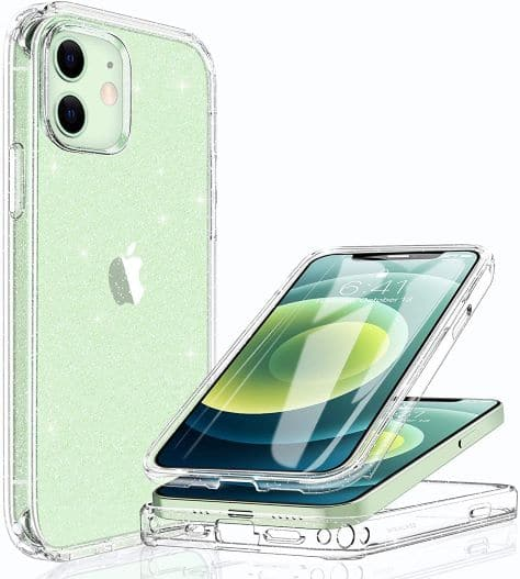 Miracase Glass+ Glitter Clear Protective Case