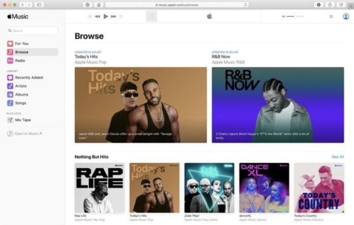 apple music on the web
