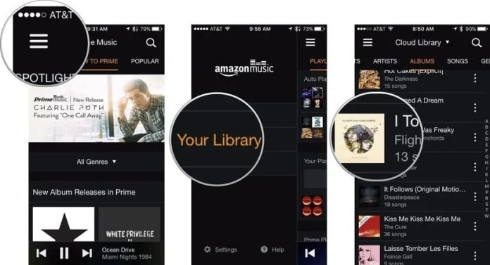 library to listen amazon prime music