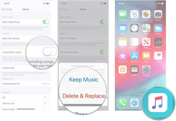 on and off on all iOS devices