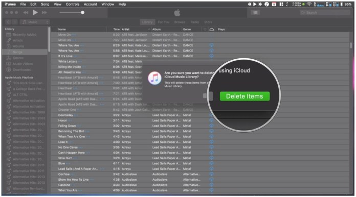 Manually rescan your iCloud Music Library