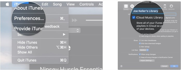 Turn iCloud Music Library on and off in iTunes