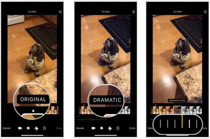 add a filter to your video- edit videos on the iPhone and iPad