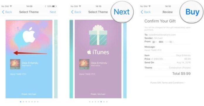 Redeem content on iTunes store