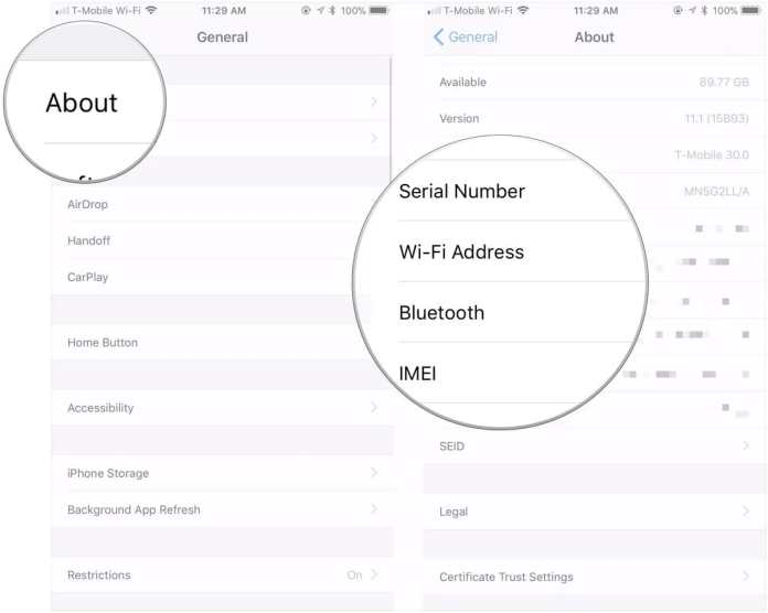 How to find your iPhone's serial number, UDID, or other information