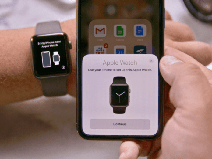 Transfer an Apple Watch to a new iPhone