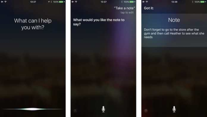 Take notes with Siri on iPhone and iPad