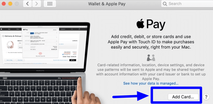 Use Apple Pay on Mac-add card
