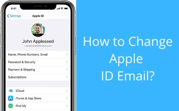 Change appleid email address