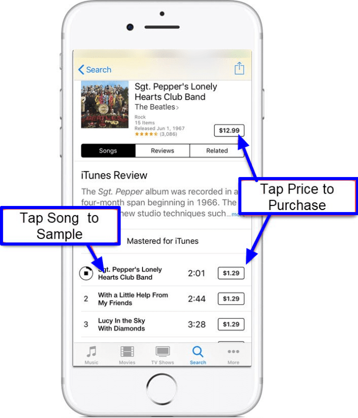 Purchase a song you like from Apple Music on your iPhone or iPad!
