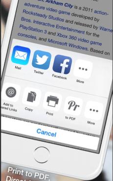 using Safari on iPhone
