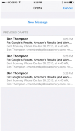 mail alternate ways for iPhone and iPad