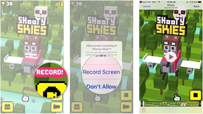 Record your gameplay on iPhone and iPad