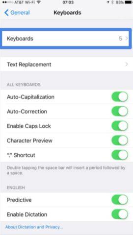 Customize keyboard on iPhone and iPad