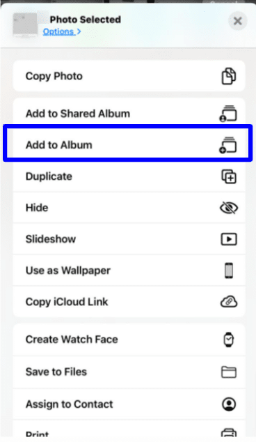 Adding pictures and videos to existing albums