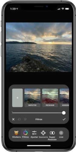 infltr apps to edit Portrait mode Photos