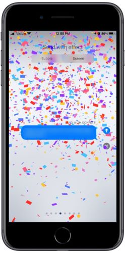 Add screen effects to iMessages