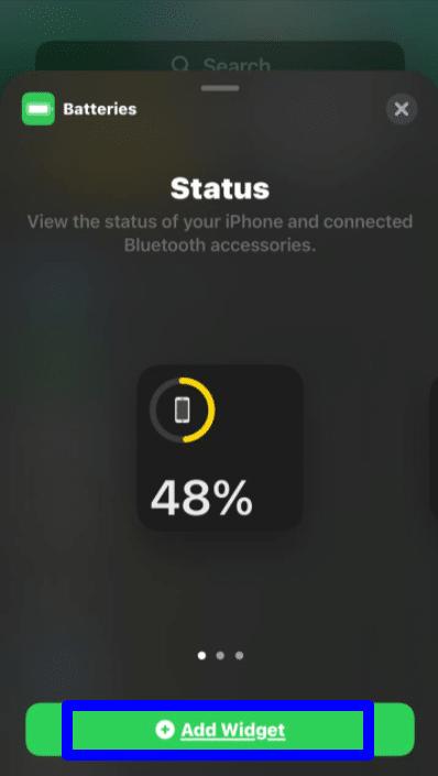 widgets iPhone