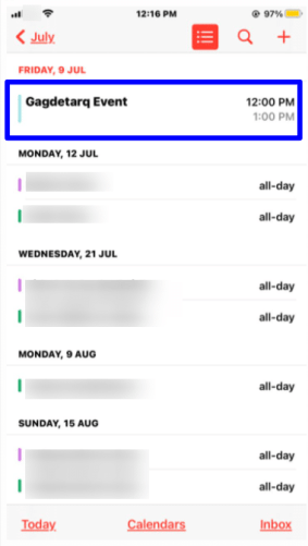 Add and manage calendar events