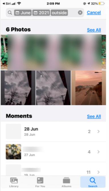 Use Siri to search photos