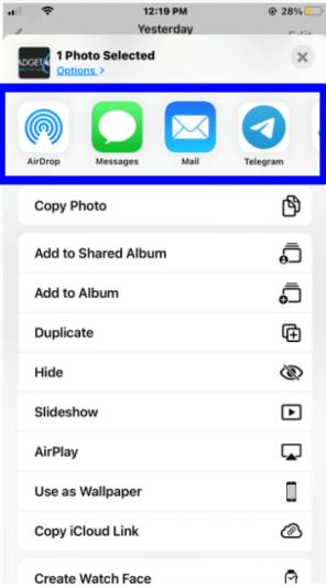 share photos on iPhone