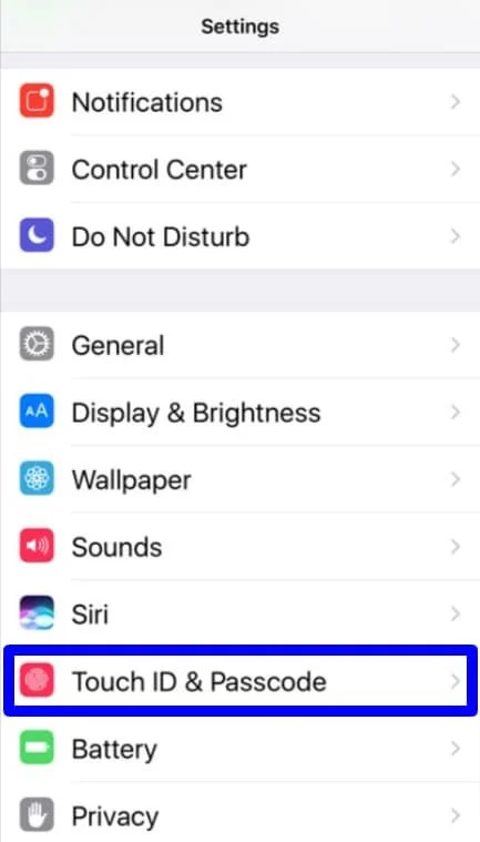 Password protect your iPhone