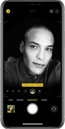 Portrait lighting selfies iPhone
