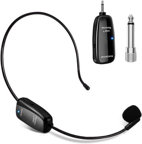 XIAOKOA UHF12 Wireless Mic Headset