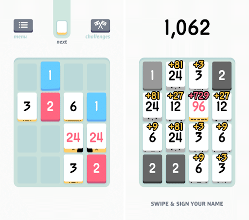 Threes- Best Puzzle Games for iPhone