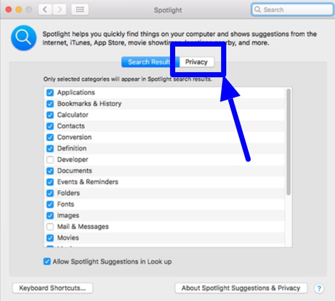 Use Spotlight on the Mac