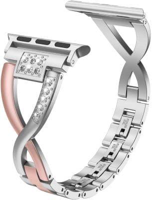 Wearlizer X-Link Rhinestone Watch Band