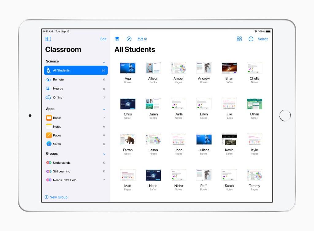 Apple ipad classroom app 032321