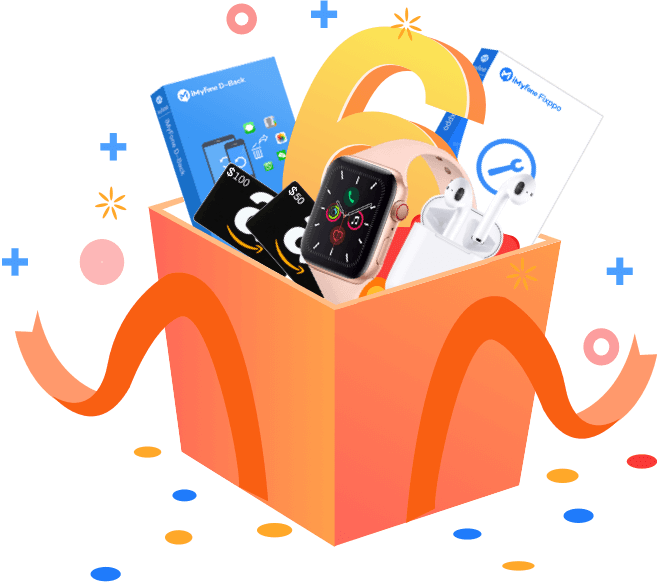 iMyFone 6th Anniversary Giveaway (Win AirPods, Apple Watch, Amazon Gift Cards, and More)