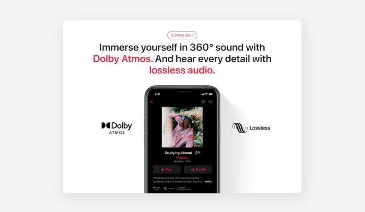 Apple's New Lossless Audio, Dolby Atmos, and Spatial Audio Coming to Apple Music in India