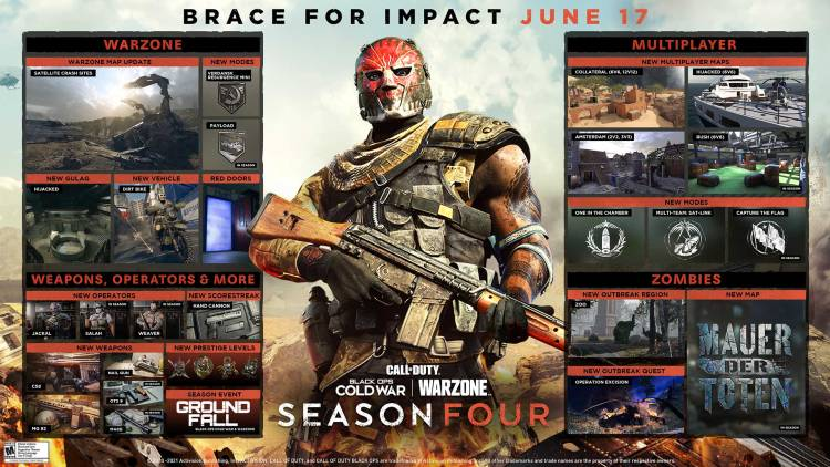 Black Ops Cold War and Warzone season four coming on June 17