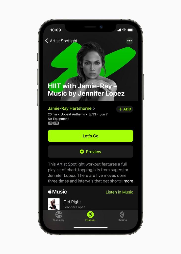 apple fitness plus update june2021 artist spotlight jennifer lopez 06242021