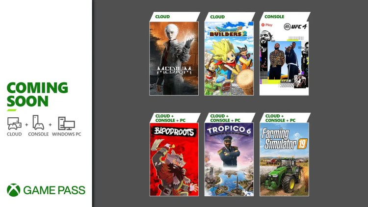 Xbox Game Pass games coming soon: UFC 4, Farming Simulator 19, The Medium, and more