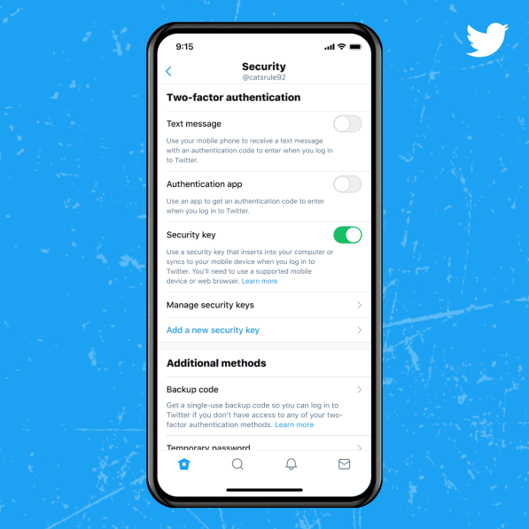 Twitter introducing Security Keys for account protection
