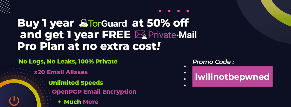 torguard with free private email