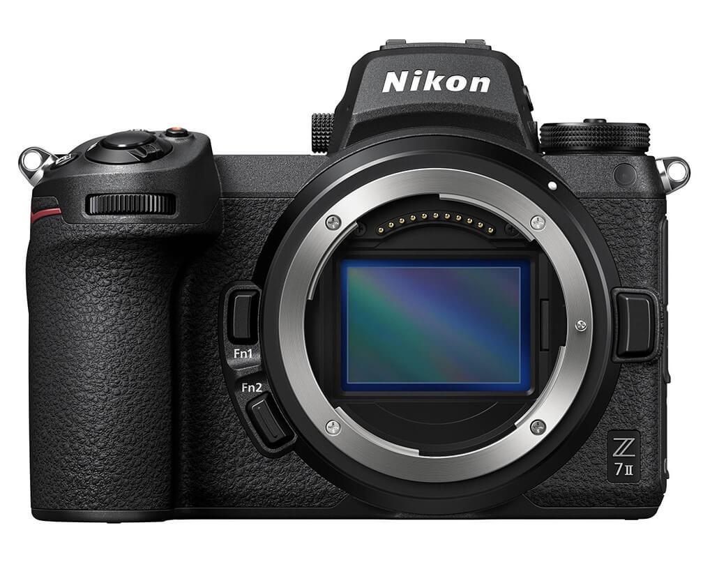 Nikon Z7 II in a plain white background