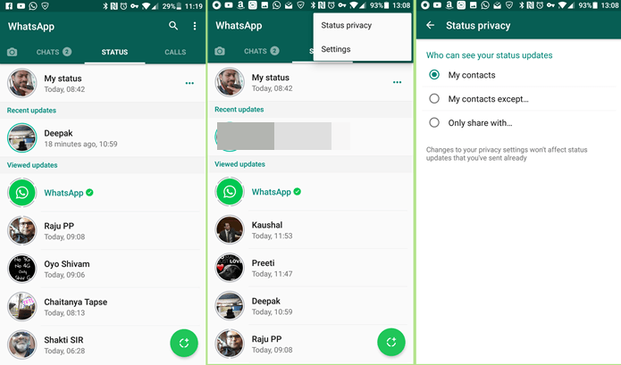 How to disable/remove the new 'Whatsapp Status' feature