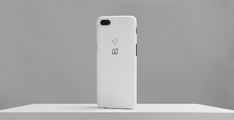 Download OnePlus 5T Sandstone White Stock Wallpaper