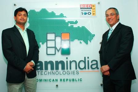 Susuhil Chaudry, presidente de Mann-India y Eddy Martínez, presidente Ejecutivo del PCSD