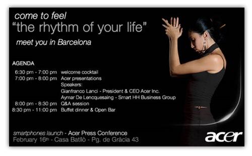 acer smartphone invitation