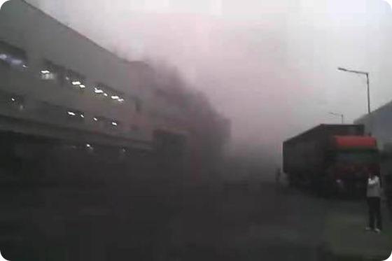 #Foxconn el humo toxico