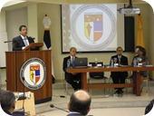 DISCURSO PRINCIPAL, JORGE CABEZA. MESA, LORENZO MADRID, MONSEÑOR AGRIPINO COLLADO Y DULCE RODRIGUEZ