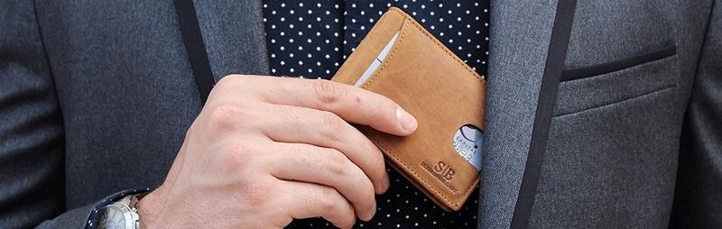 Slim RFID Bifold Wallet Best Men Gifts