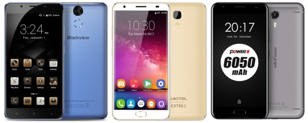 Blackview P2 vs Ulefone Power 2 vs Oukitel K6000 Plus: Adu Smartphone Batere 6000 mAh dengan RAM 4GB 1