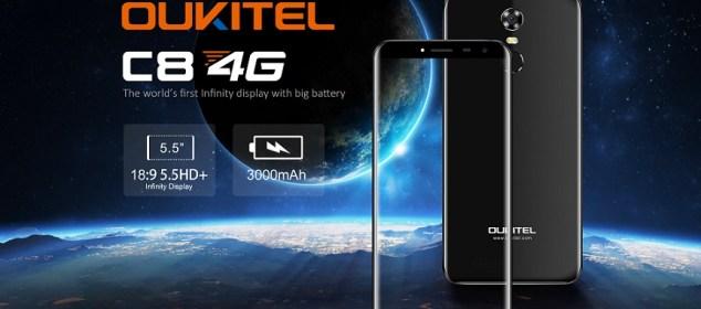 Oukitel C8 4G: Phablet Layar 18:9, RAM 2GB, Harga Cuma 1,1 Juta 5